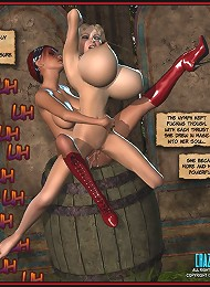 Hot lesbian action in these hot 3d comics