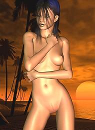 Jade at sunset