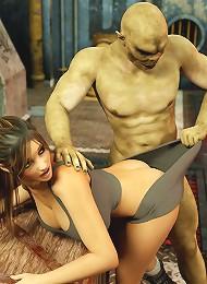 Anime miss slams dick as gets gangbanged