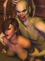 Elf Girl with huge juggs deals with Admirer's dick