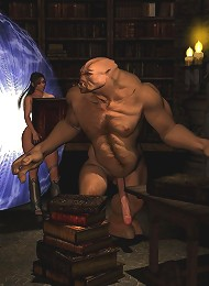 Shy Hentai Amazon massages Boyfriend till slammed