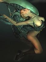 3D actress licks Lover