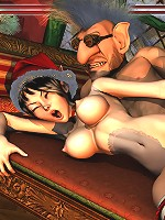 Innocent Elf Girl gets 3D Orc as gets her twat rammed