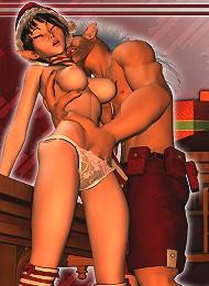 3D Neko-girl blowjobbing then ripped by 3D Sex expert