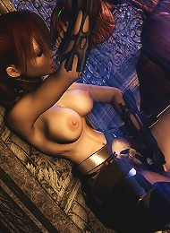 Excited Dream Girl massages Hentai Orc before gets bent over