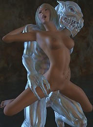 Gorgeous 3D Harlot gets naked and drilled