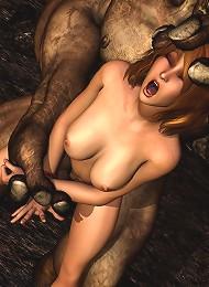Beauty pleasures 3D Priest's monster cock