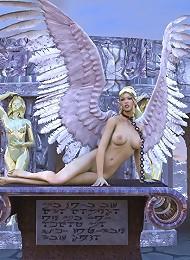 Sexy 3D Jade gets 3D Alien untill filled