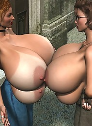 3D SuperGirl with stiff boobies ripped