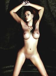 Unsuccessful 3D actress gets Devil and eats sperm
