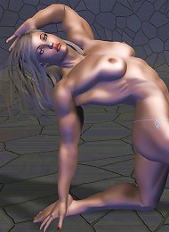 Lustful 3D Secretary with pierced milkers