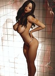 3D Sorceress masturbates and rides 3D Sex expert