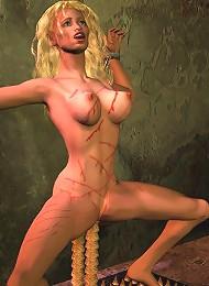 3D School girl blows 3D Ogre as gets banged hard