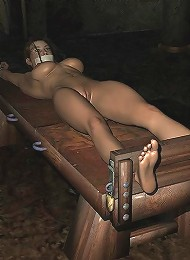 Virgin 3D Floosie masturbates and gets penetrated