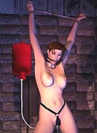 Parlourmaid gives very erotic headjob and puts cum