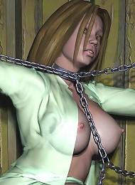 Sexy Anime Lesbian with big nipples