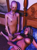 3D Priestess penetrated real deep and comes