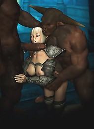 3D Boss with amazing the twins rides cock
