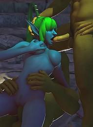 3D Jade gives 3D Teacher pain and pleasure