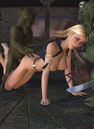 Kitty punishing Ninja until he cum