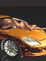 3D redhead car show