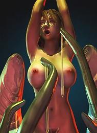 3D Vigrin runs her tongue on Dark Lord's schlong