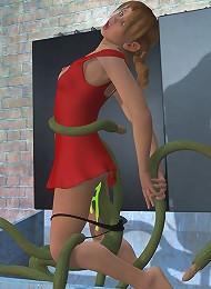 Fantastic 3D Neko-girl with great titties