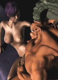 Demon and ebony girl
