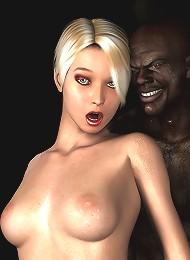 Brunette girl strokes soft dick
