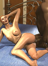 Flirty 3D Belle gets abused and squirts juices