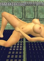Alluring 3D SuperGirl was screwed by 3D boyfriend