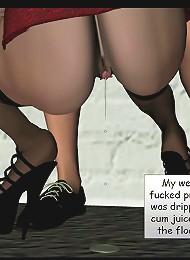 Delicious Hentai Secretary licking dick