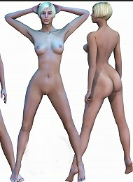 Cum craving 3D Slut gets foreplay