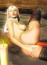 Nice Girlie boned and reaching intense orgasm